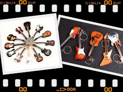 MLC-Guitar shaped keychains