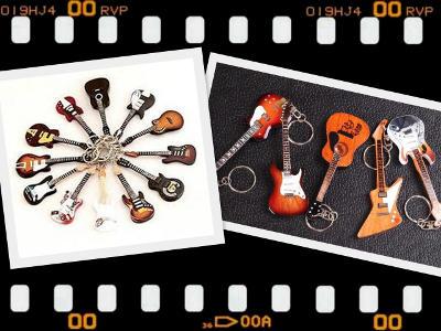 MLC-Guitar shaped keychains