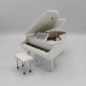 Mini Pianoforte a coda Replica Mod. White