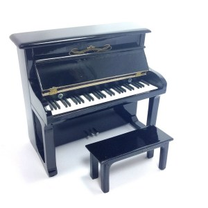 Mini Piano verticale replica in legno Mod. Black
