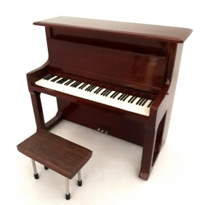 Mini Piano verticale replica in legno Mod. Brown